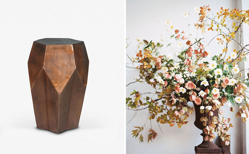 Embrace nature - Copper Turret Side Table