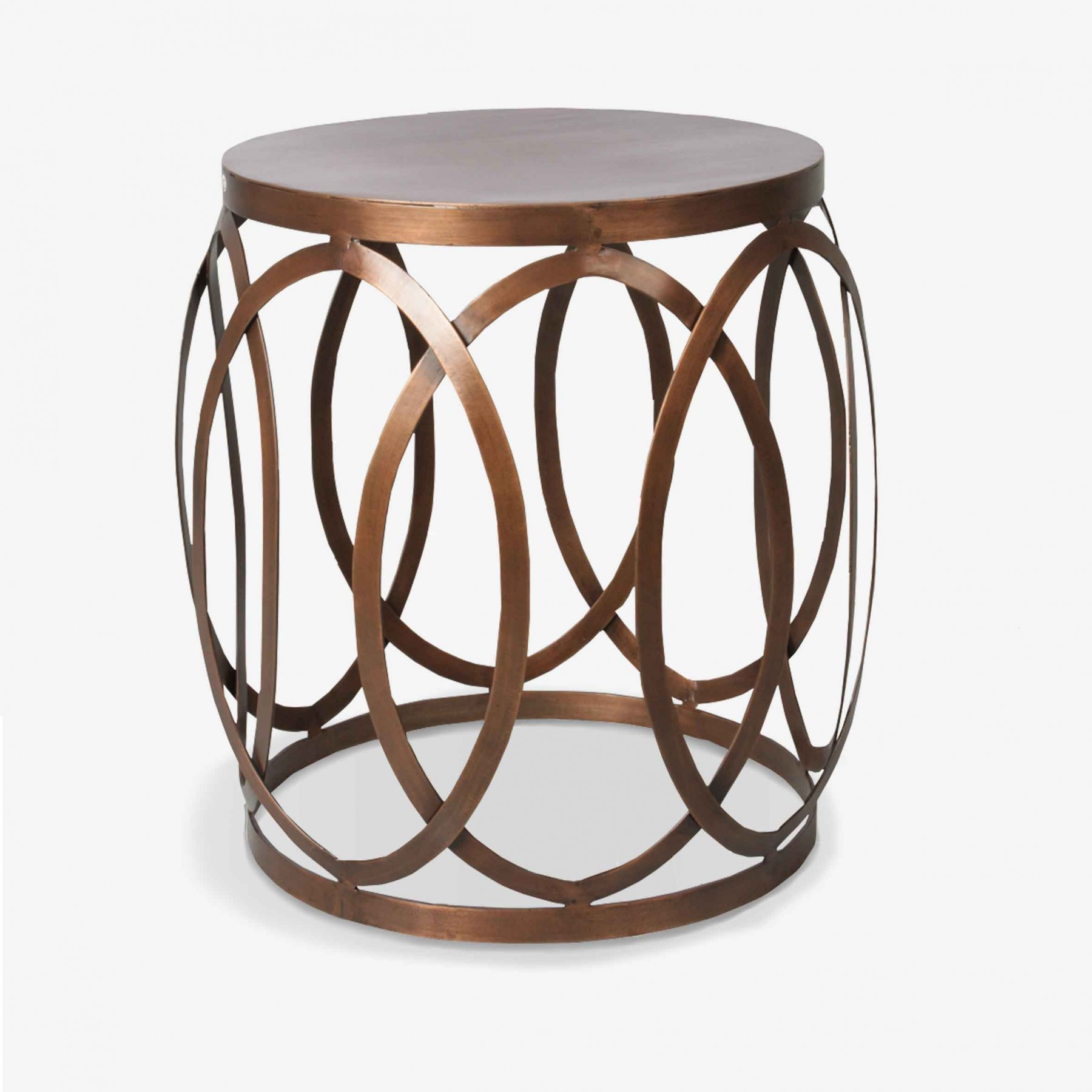 The copper cuff shiny side table th2studio for Table y copper