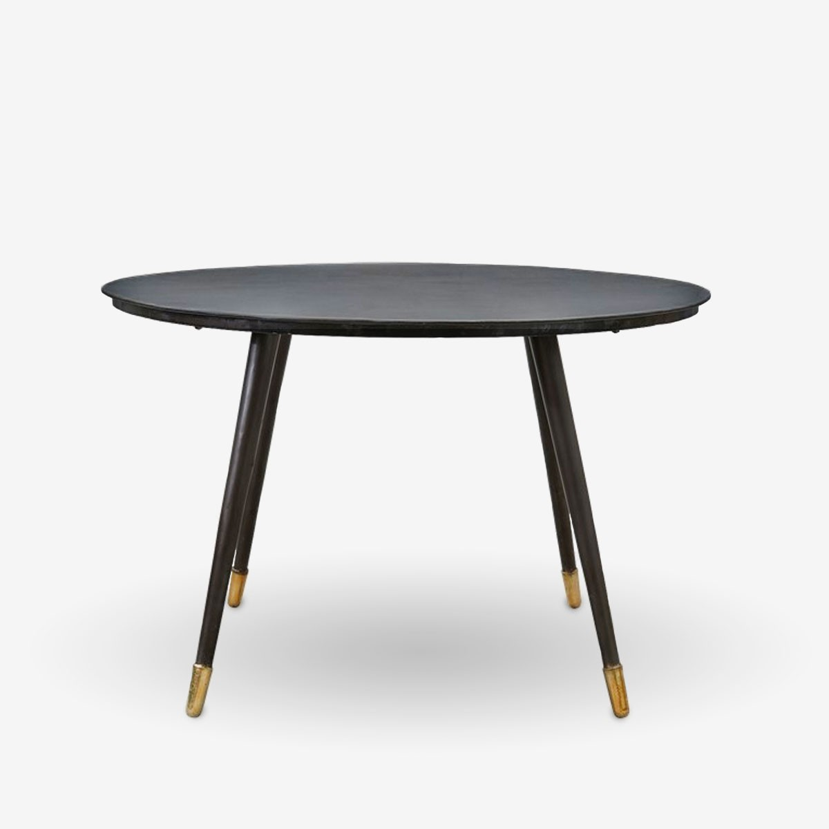 Black and Brass Dining Table