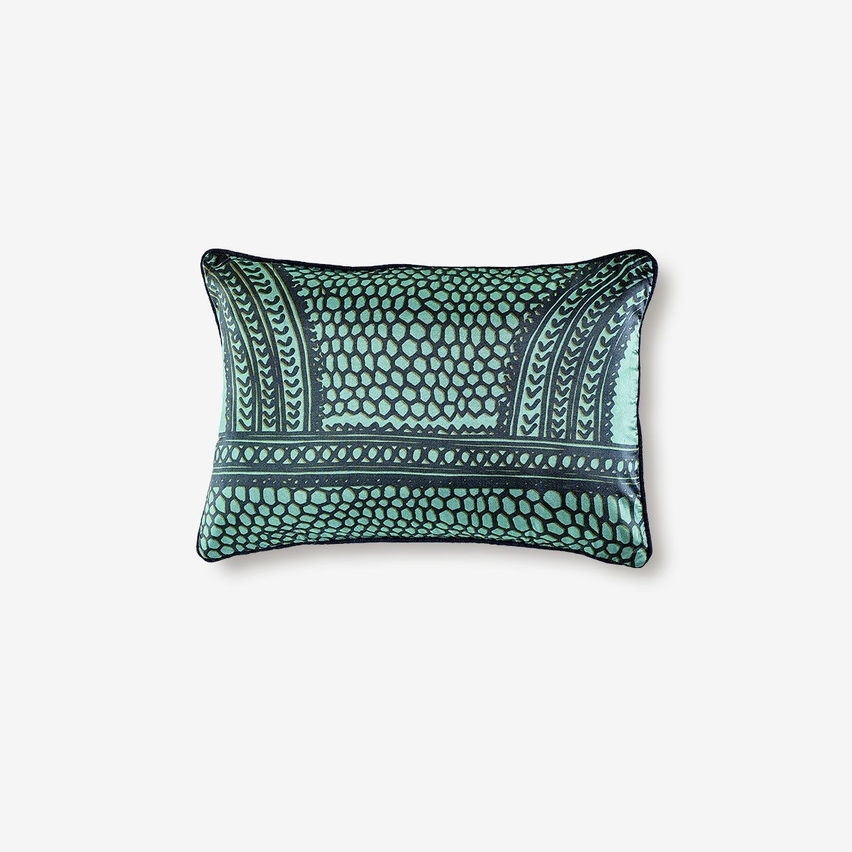 Image shows Bridget Cushion in Aqua