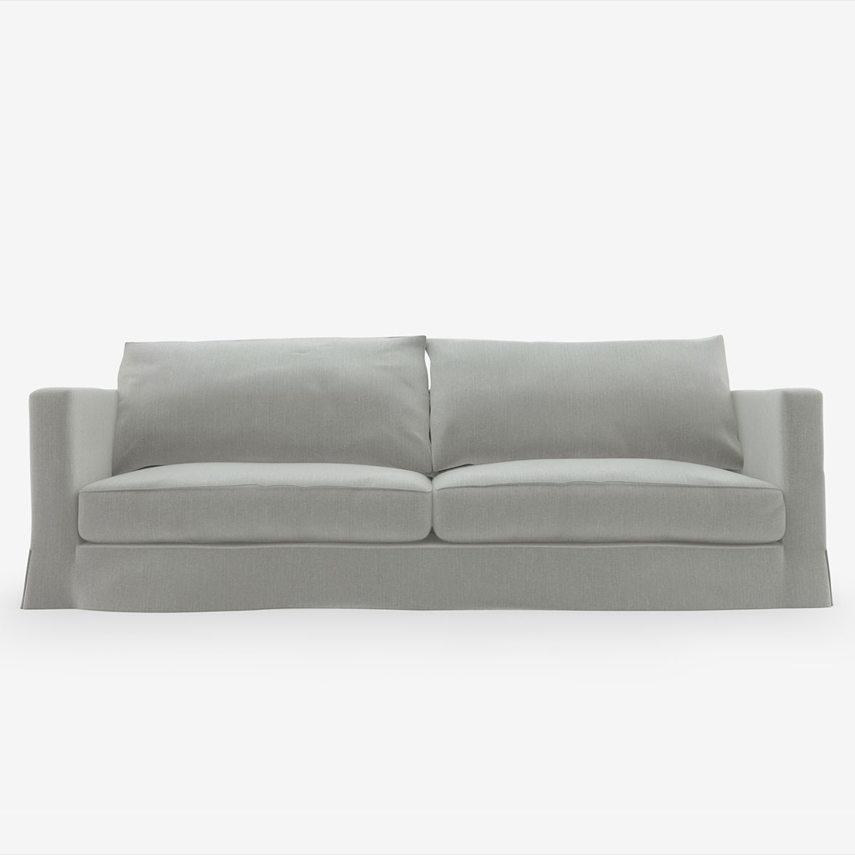 Image shows Large Cool Comfortable Sofa - 3 Seater in Studio Linen Silver Grey