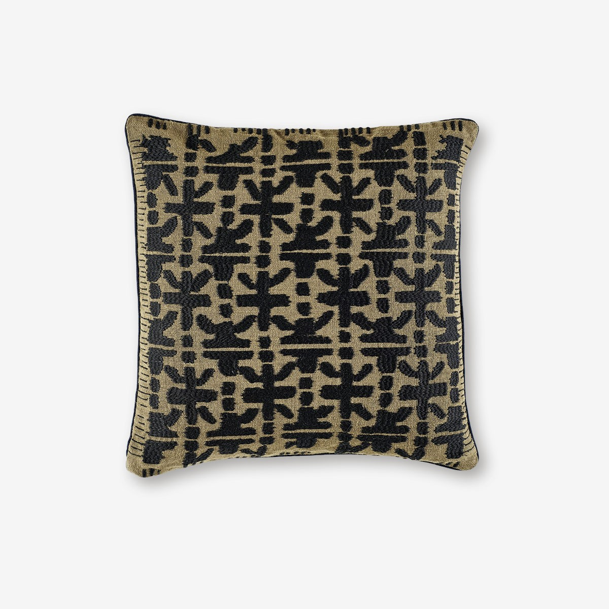 Image shows Crossway cushion in Bronze