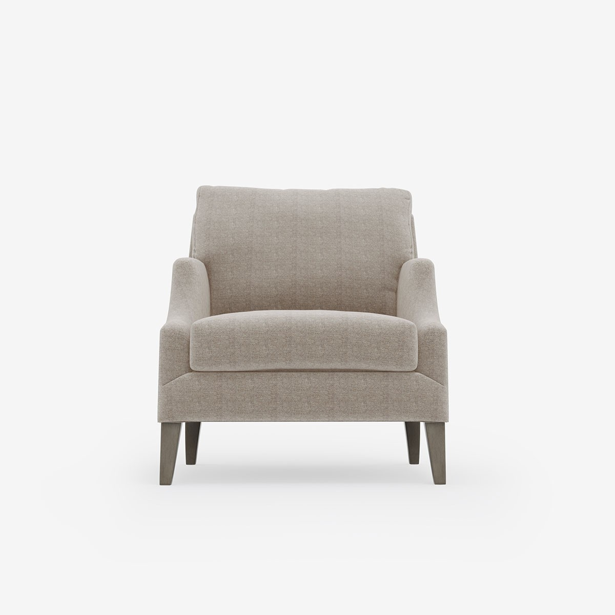 Image shows Dan's Comfy Chair in Relaxed Herringbone Soft Stone