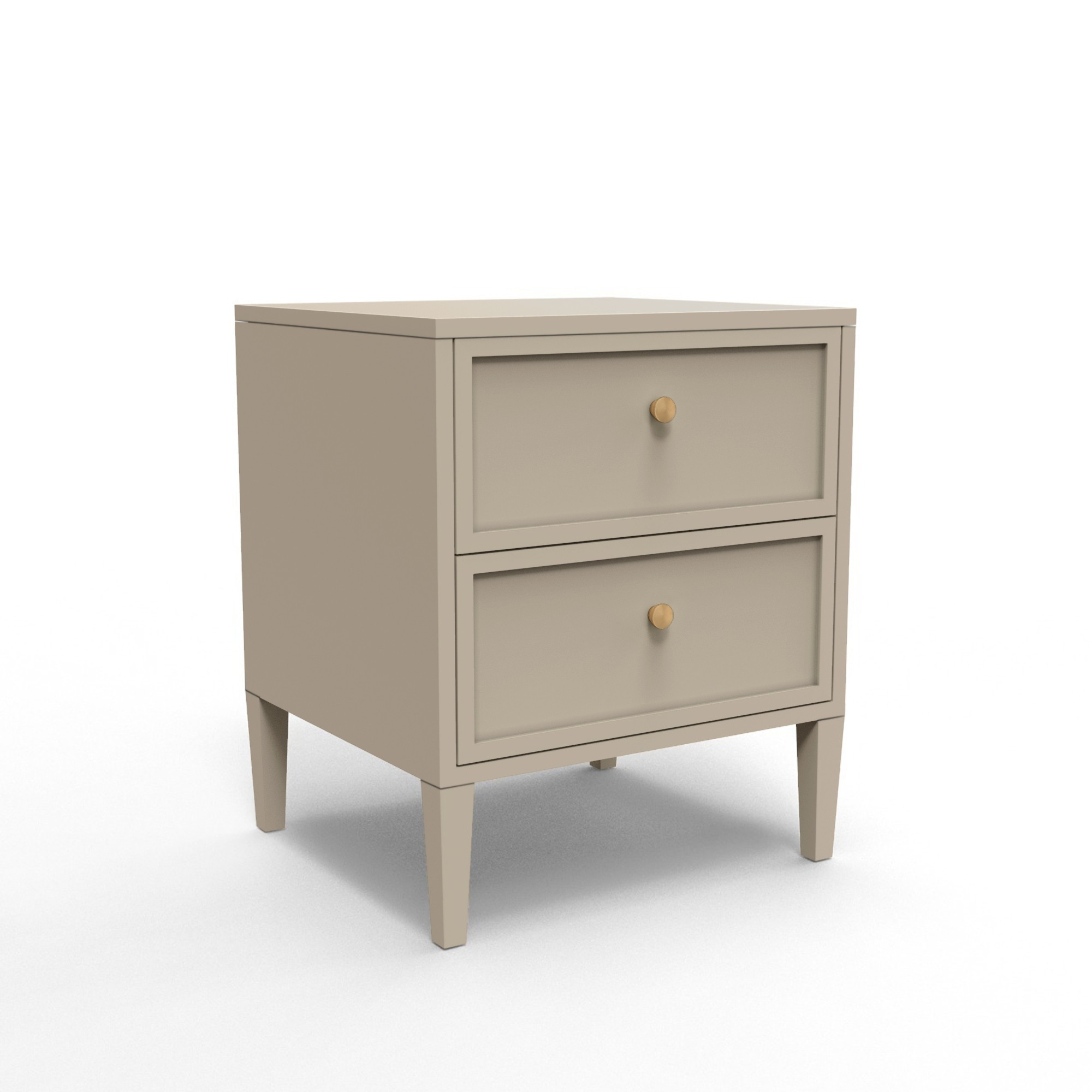 Double Drawer Bedside Table