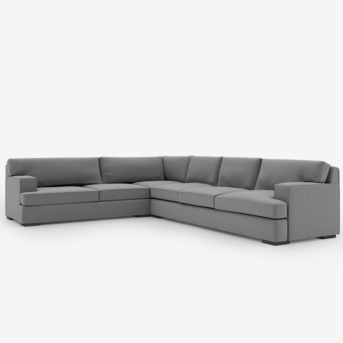 Image shows Extra Large Urban Corner Sofa – 5 Seater in City Herringbone Silver Grey