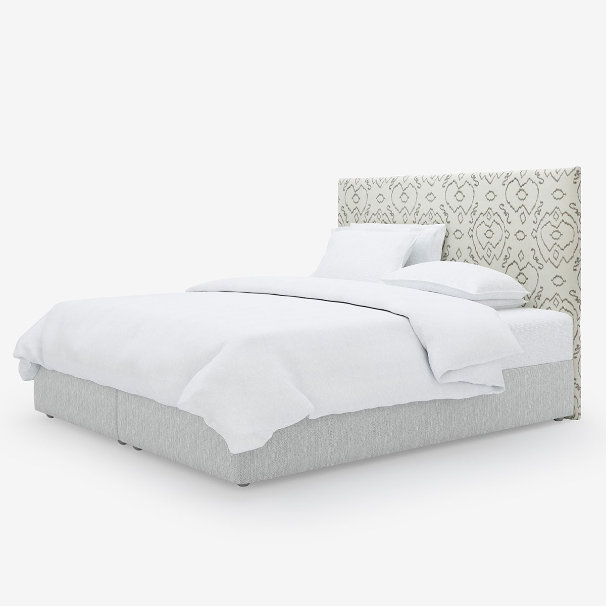 Image shows Simply Patterned Super King Headboard in Ikat Pattern