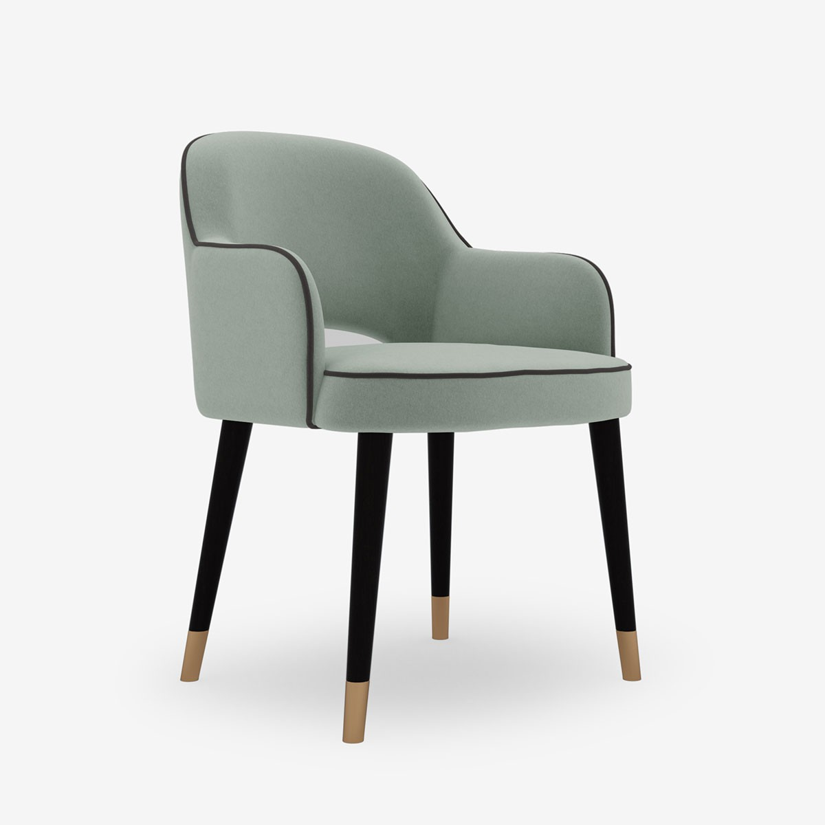 Image shows Kate's Occasional Chair in Relaxed Wool Celadon