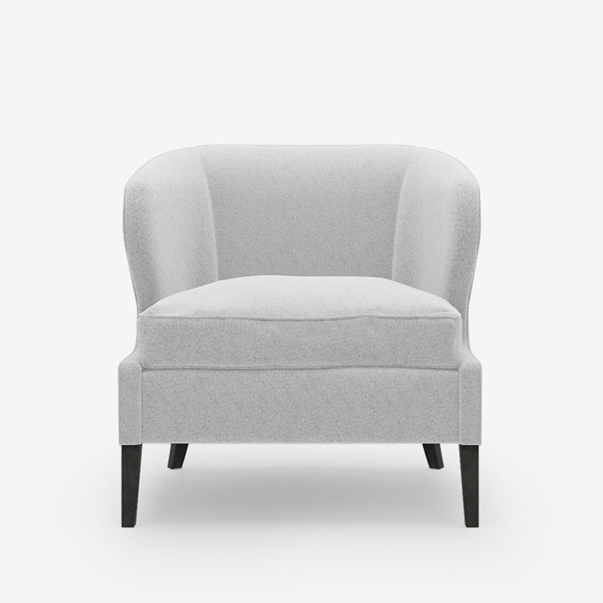 Image shows Livvy's Petite Chair in Wool Felt Soft Grey