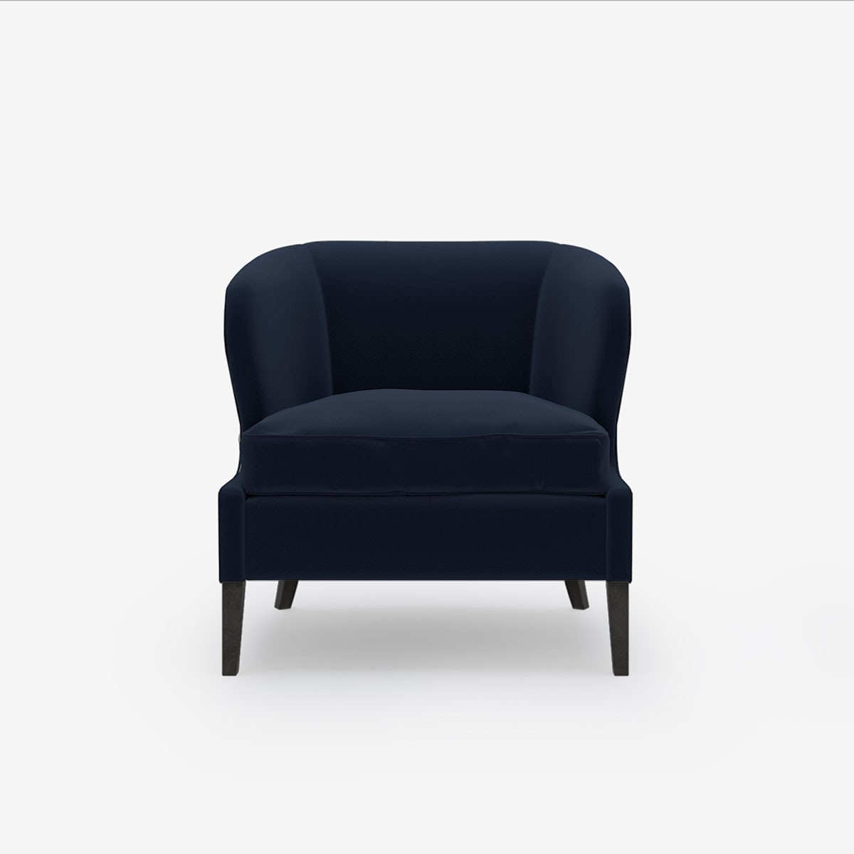 Image shows Livvy's Petite Chair in Nordic Linen Midnight Blue