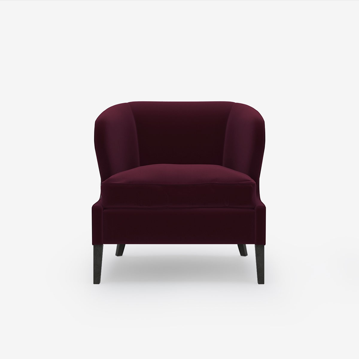 Image shows Livvy's Petite Chair in Relaxed Wool Plum