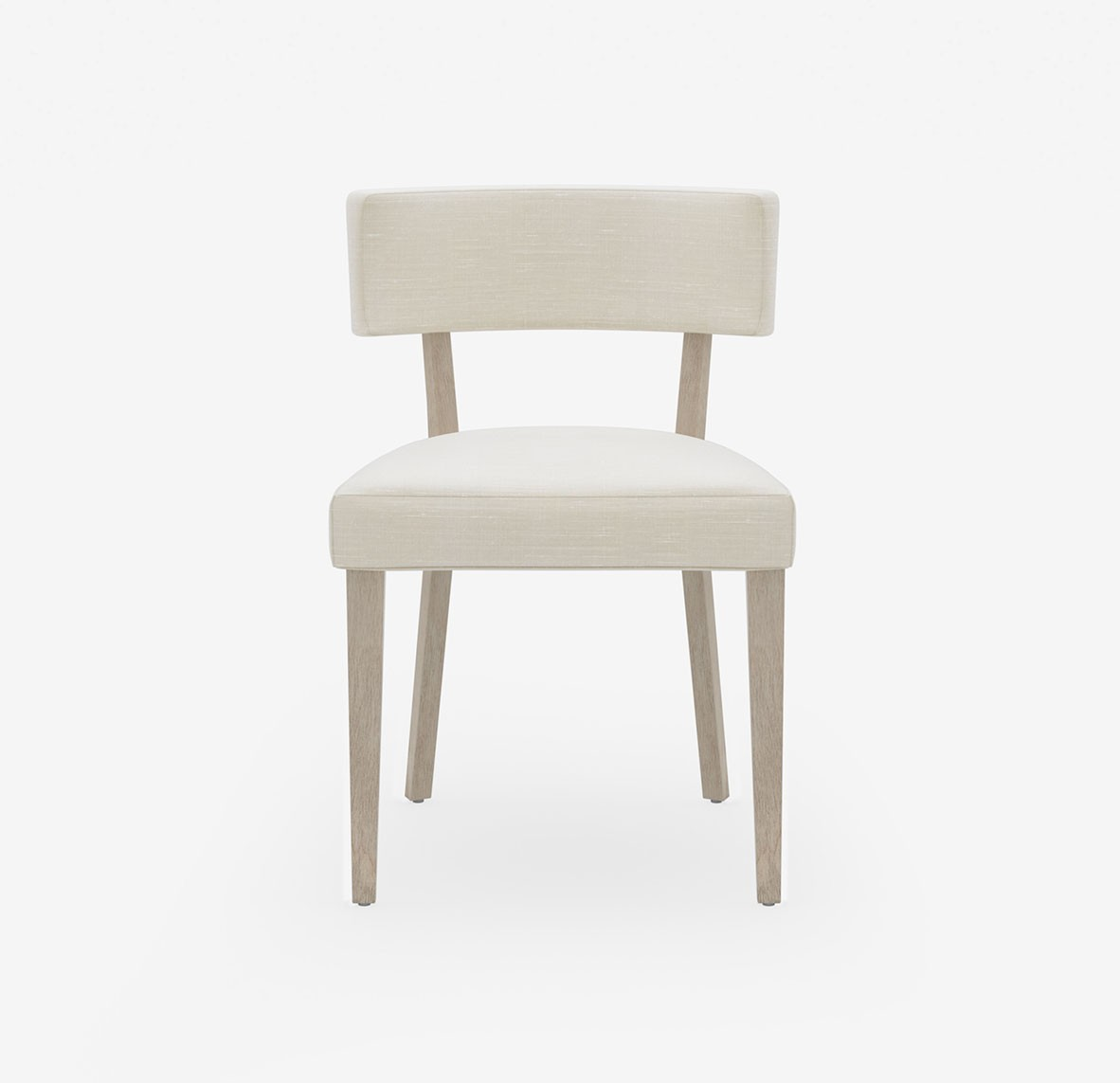 Style Seat Designer Dining Chair With Luxury Upholstered Seat and Back - Nordic Linen - Parchment