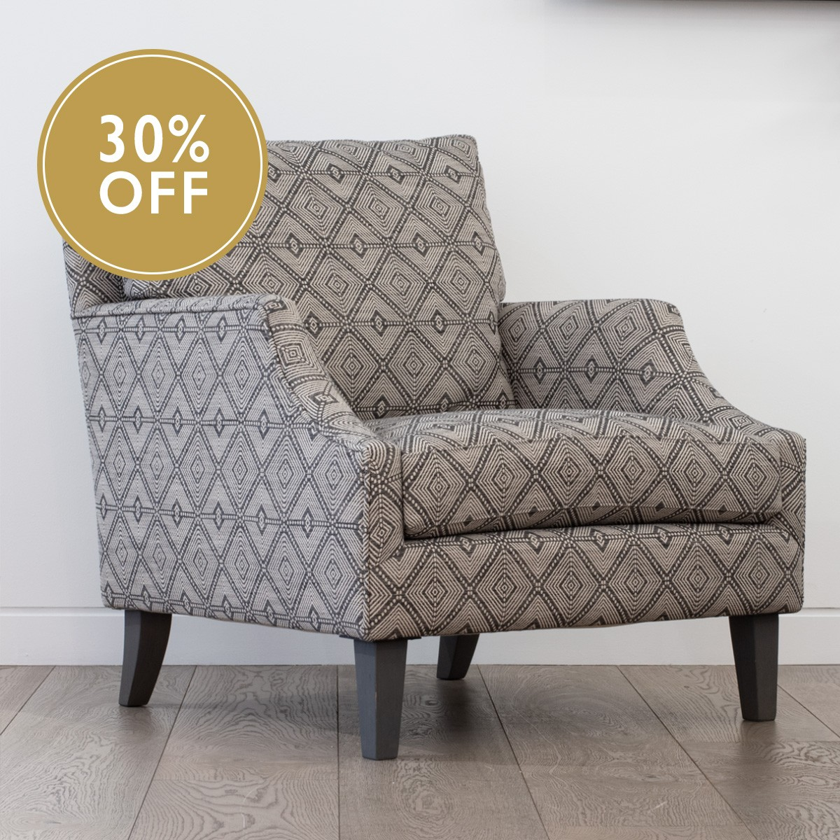 Dan's Comfy Chair in Kravet Design - Geometric