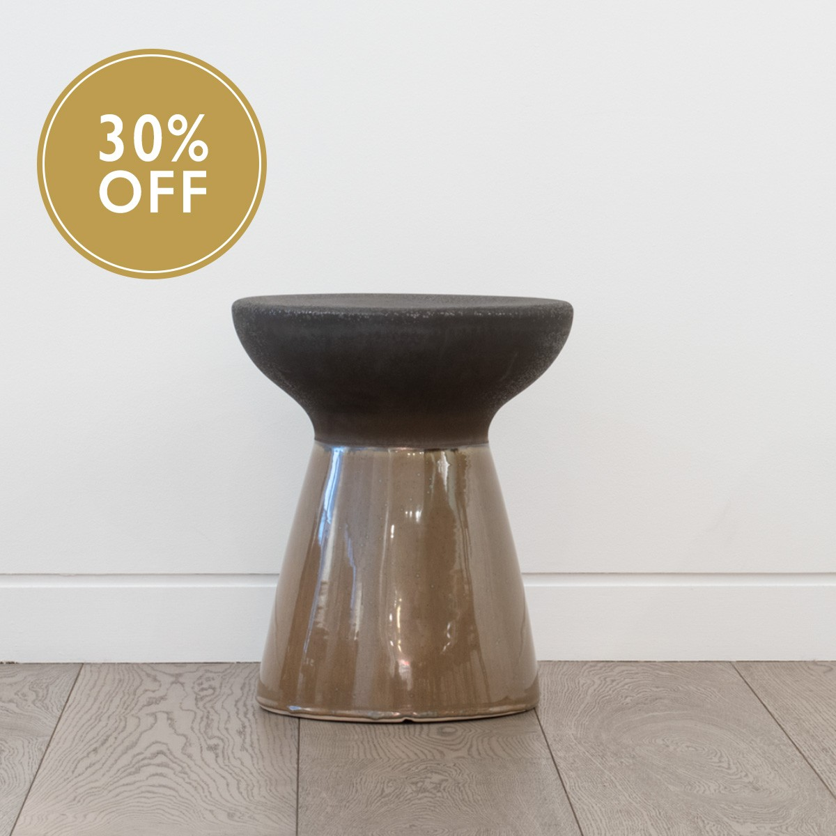 Earthenware stool - Ochre