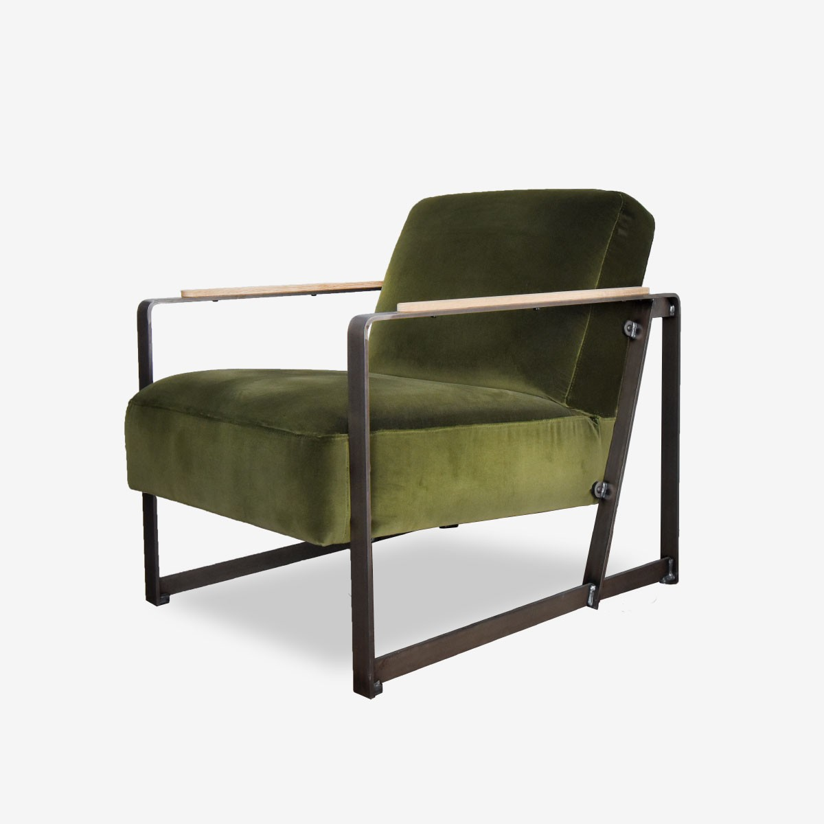 Harvey's Armchair in Style Velvet Moss
