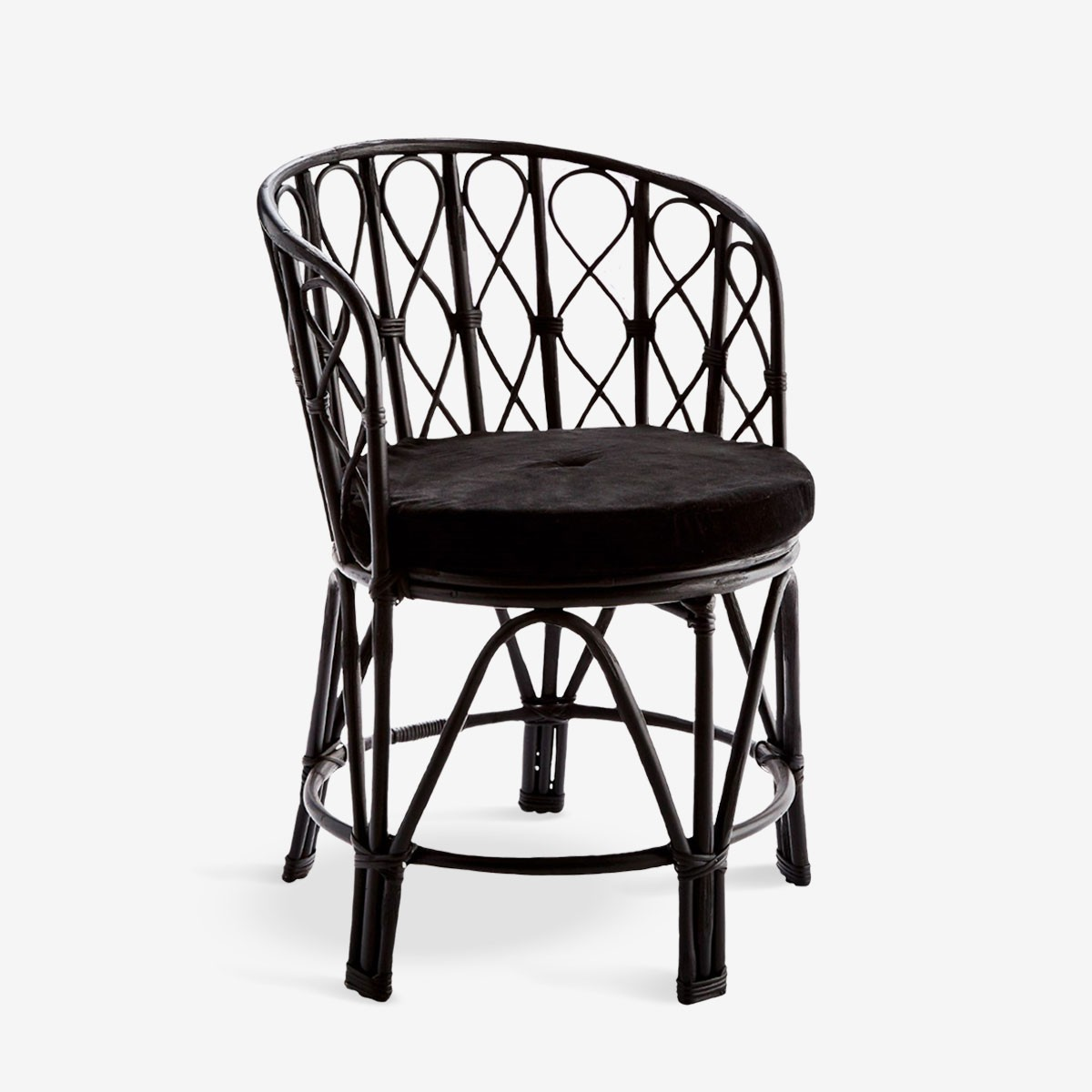 Boho Chair in Black Bamboo