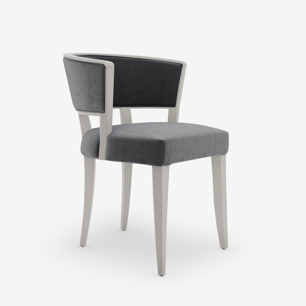 Statement Chair in Style Velvet Slate Grey