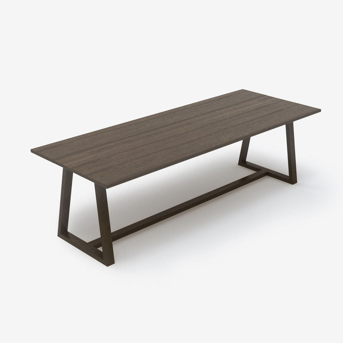 Image shows Studio Style Dining Table in Dark Grey/Brown Timber