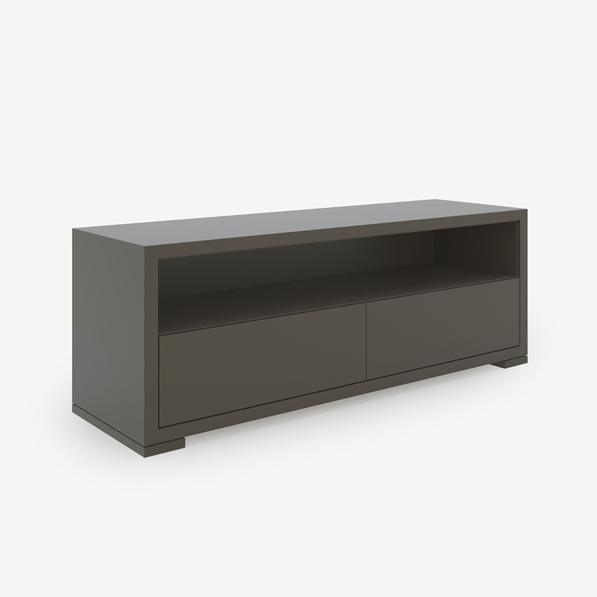 Style Store Media Unit, Lacquer Finish - Taupe Grey