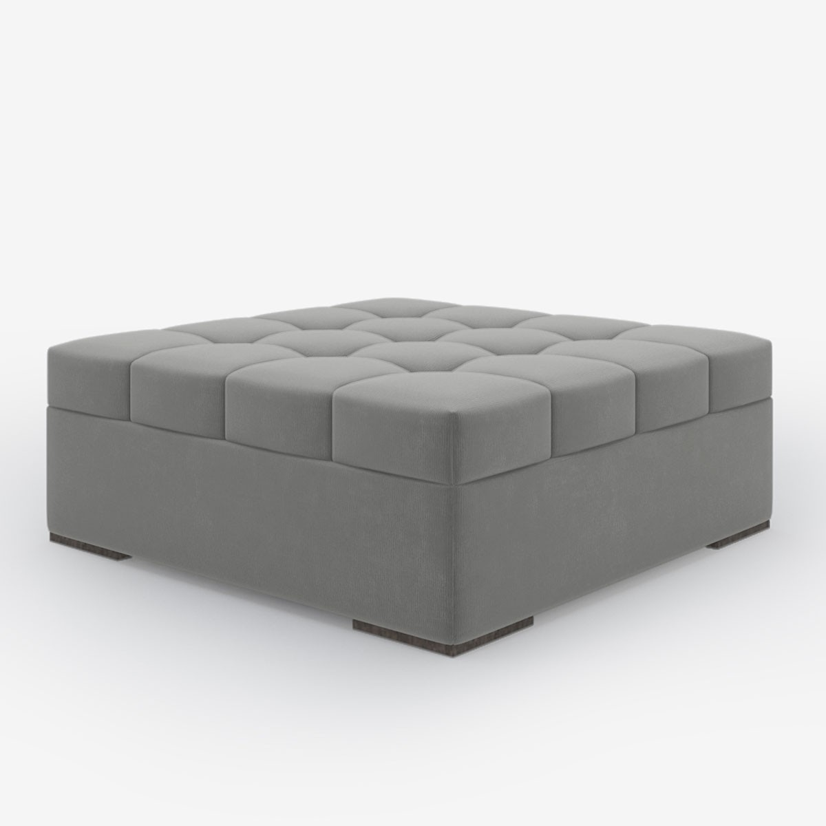 Image shows Button Top Coffee Table in Studio Linen Silver Grey