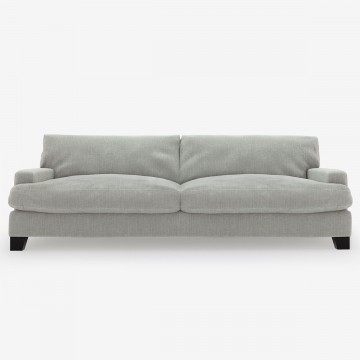 Image shows Large At Ease Sofa - 3 Seater in Studio Linen Silver Grey