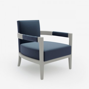 Image shows Charlotte's Chair in Relaxed Wool French Blue