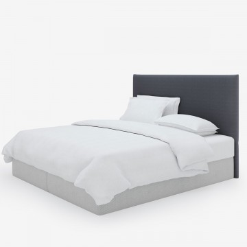 Image shows Simply Tailored Super King Headboard in Nordic Linen Lead Grey