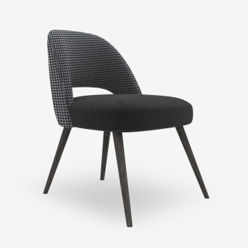 Image shows Retro Chair in Graphite Houndstooth Mix