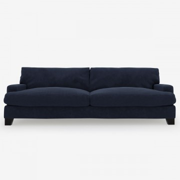 Image shows Large At Ease Sofa - 3 Seater in Nordic Linen Midnight Blue