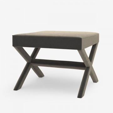 Image shows Dressed To Sit Stool in Style Velvet Warm Grey