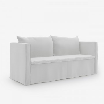 Image shows Medium Nordic Sofa – 2.5 Seater in Scandi White