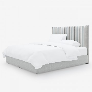 Image shows Simply Striped Super King Headboard in Herringbone Stripe