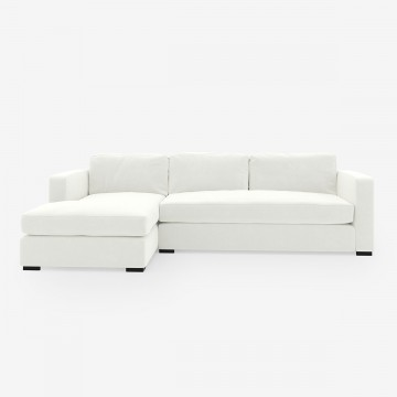 Image shows Corner Classic Sofa in Studio Linen Antique White