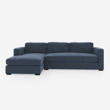 Image shows Corner Classic Sofa in Studio Linen Denim Navy