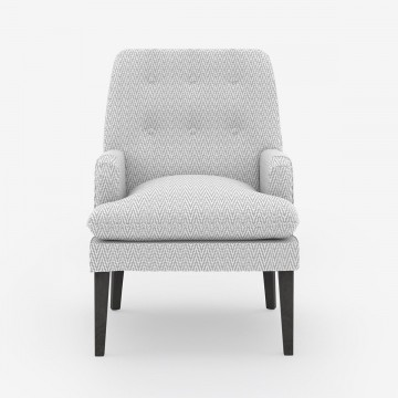 Image shows Gemma's Chair in Chevron Soft Grey