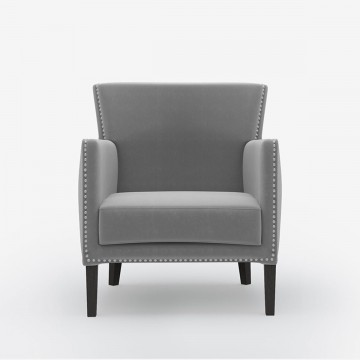 Image shows Kerry's Polo Chair in Studio Linen Silver Grey