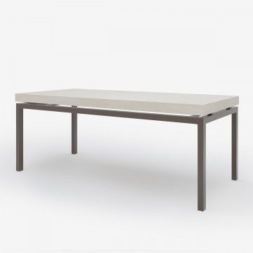 Long 'N' Lean Dining Table in Washed Grey Taupe Timber