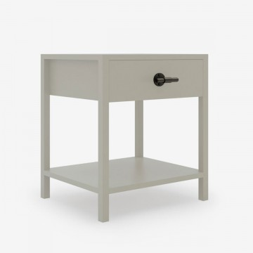 T-bar bedside table in Soft Taupe