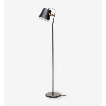 ESSENTIAL BLACK & BRASS FLOOR LAMP