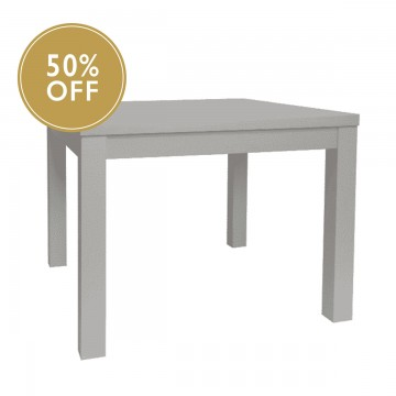 Compact Dining Table - White-Grey
