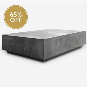 Concrete Coffee Table - Image shows 120 x 90cm not 90 x 90cm