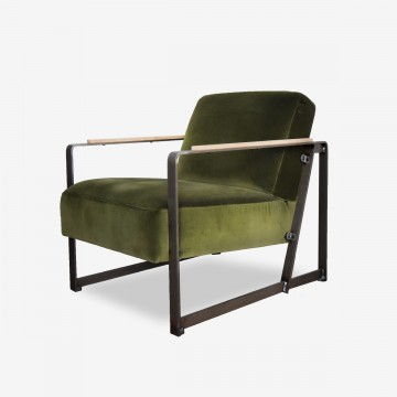 Harvey's Armchair Style Velvet Moss Green