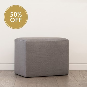 Upholstered Rectangle Stool - Dedar - Ratafia