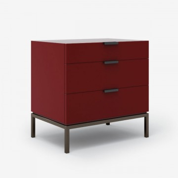Soho Style Bedside Table - Mineral Red