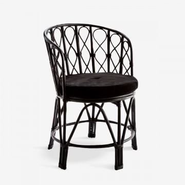 Boho Chair in Black Bamboo I Ex-Display