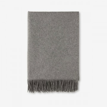 Luxury Cashmere Throw in Granite