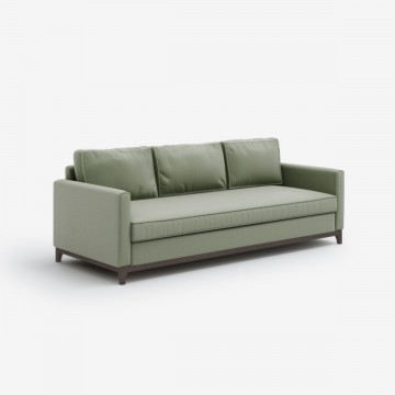 Luxury Designer 3 Seater Sofa in Nordic Linen - Sage Green