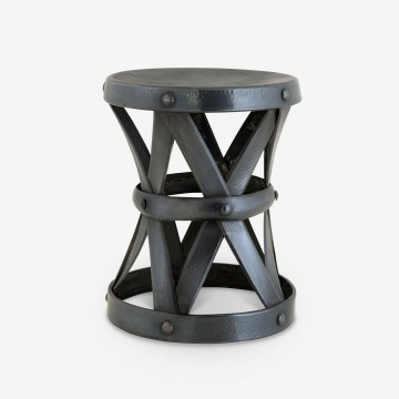 PETITE METALLIC SIDE TABLE - Mini - H37 x Dia29cm