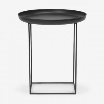 Image shows So Versatile Mini Side Table in Earth Black