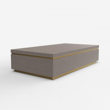 Timber Top Coffee Table - Smoked Birch
