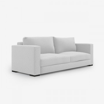 Image shows Large Contemporary Sofa - 3 Seater in Wool Felt Soft Grey